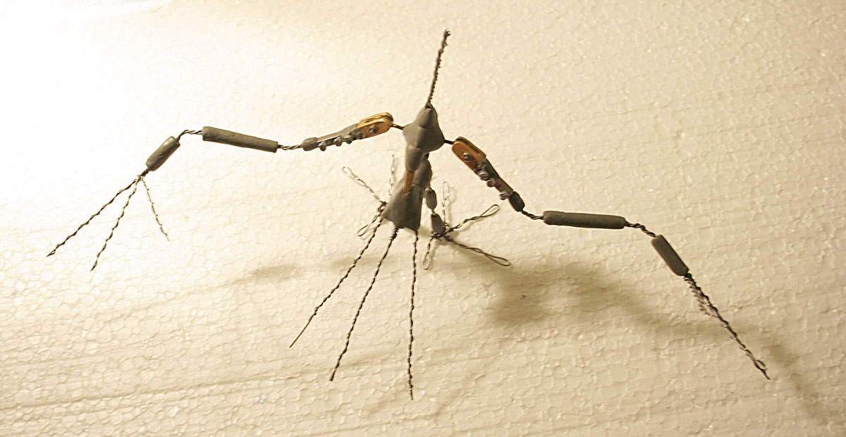 Stop Motion Bird puppet - wire armature.